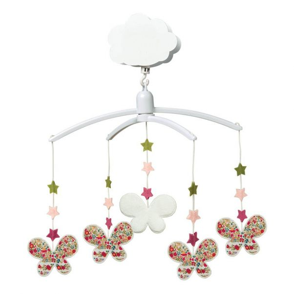 Spieluhr Mobile Sterne Schmetterlinge Blumen Trousselier Design