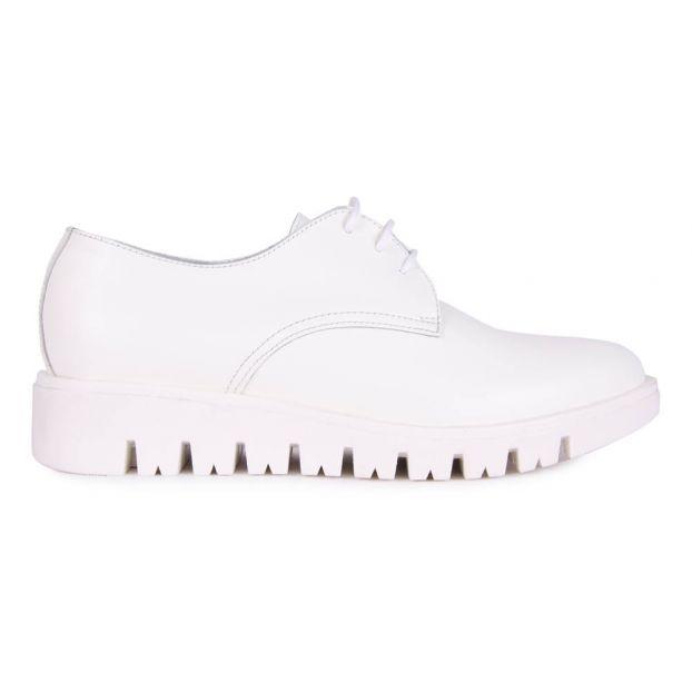more photos bc24a 1cf7b Derby-Schuhe mit Schnürsenkel weiße Sohle Weiß