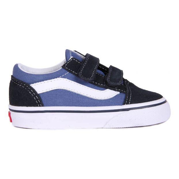 4a2101c3b Zapatillas Velcro Old Skool Azul Marino Vans Calzado Bebé