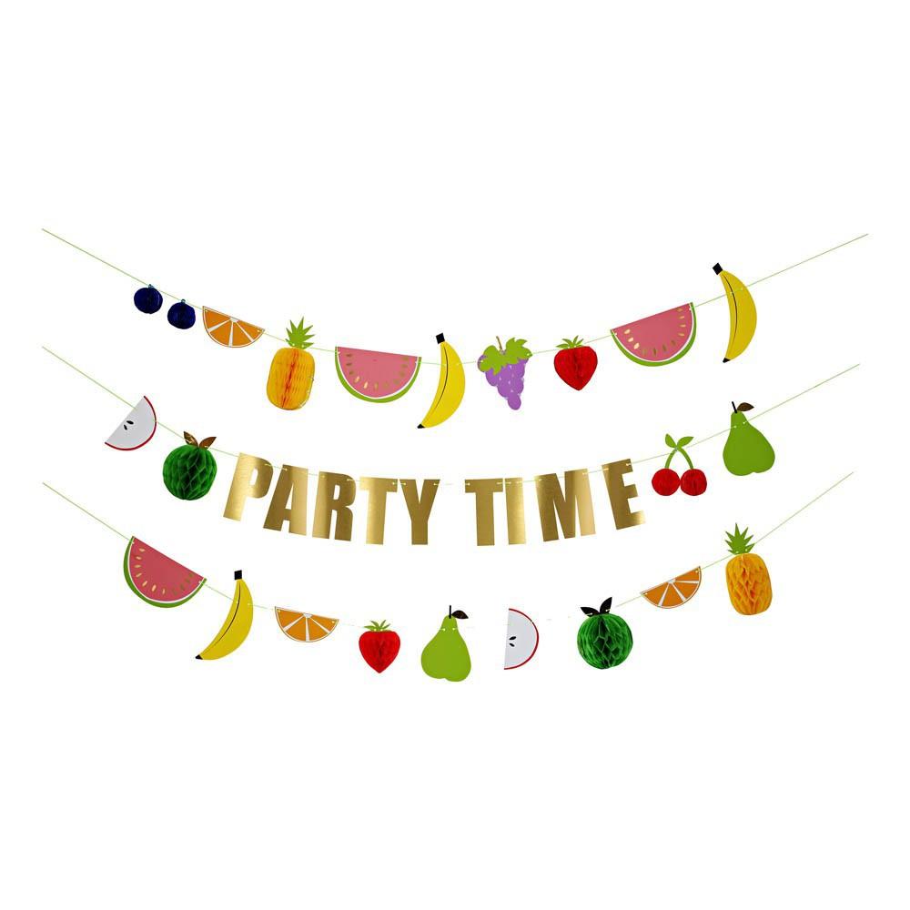 party time fruits garland meri meri design children