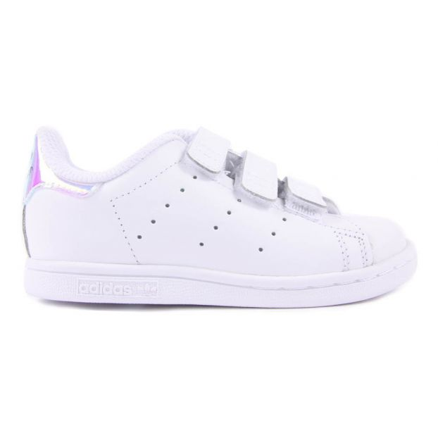 Baskets Cuir 3 Scratchs Irisé Stan Smith Argenté