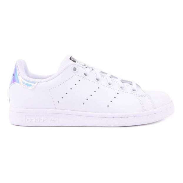 669e3a23af9 Iridescent Stan Smith Laced Sneakers White Adidas Shoes Teen