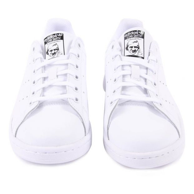 e1c301bb17 Baskets Lacets Cuir Irisé Stan Smith Blanc Adidas Chaussure