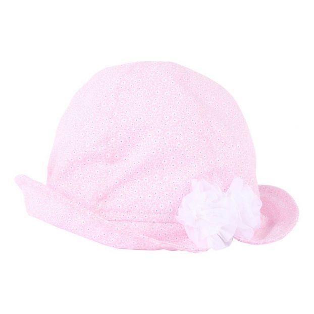 Cappello Fiori Rosa chiaro Il Gufo Moda Bebè 761fba694ca6