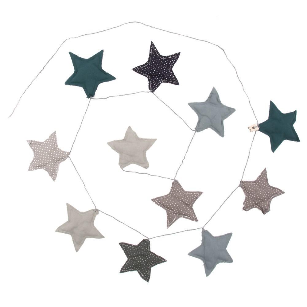 Girlande Sterne blau Highlight 3181