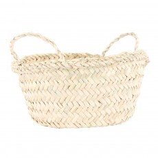 product-Cosydar Round Woven Palm Leaf Basket
