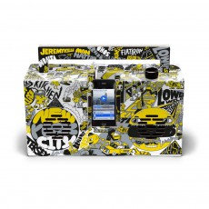 product-Berlin Boombox Artist edition by Jeremyville Ghetto Blaster 3.0 Speaker with USB port