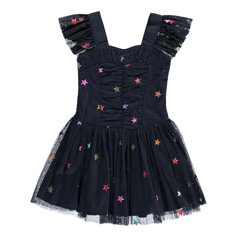 Jo Jo Mesh Star Dress Midnight Blue Stella Mccartney Kids Fashion