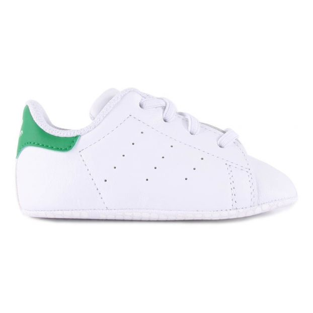 5d067a1156d Lace-Up Stan Smith Crib Shoes Green Adidas Shoes Baby