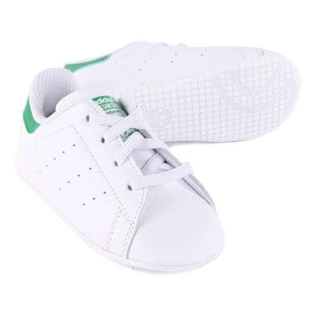 91d5bb3fb Lace-Up Stan Smith Crib Shoes Green Adidas Shoes Baby