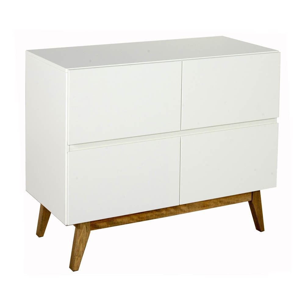 Commode 4 Tiroirs Trendy Blanc Quax Design Bebe Enfant