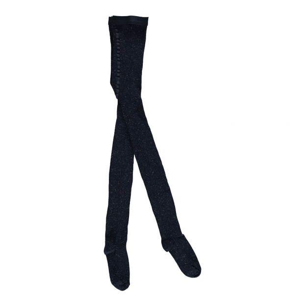 4c1e8e0b3 Fouchur Lurex Rib Tights Navy blue Bellerose Fashion Teen