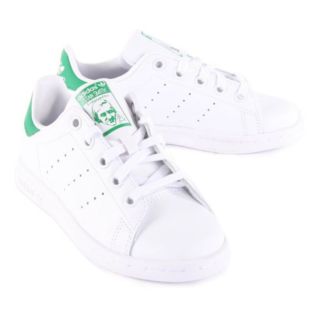 promo code 9aaf8 a7d4c Leather Elastic Lace Stan Smith Green Trainers-product