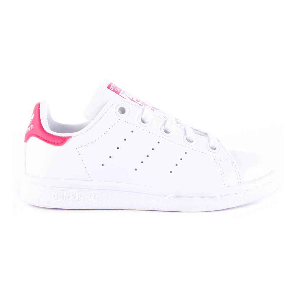 online store 23e84 e76be Leather Elastic Lace Stan Smith Pink Trainers Pink Adidas Shoes