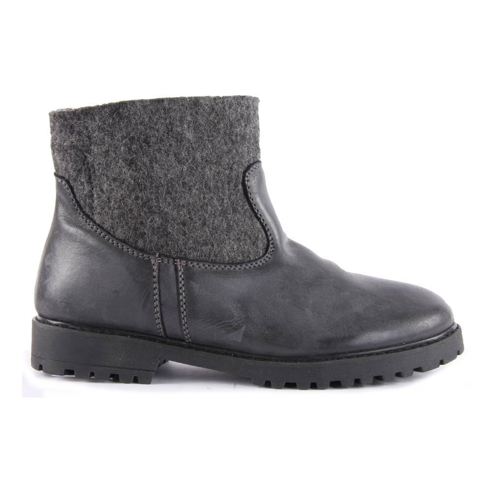 Boots Cuir et Feutre Lauren