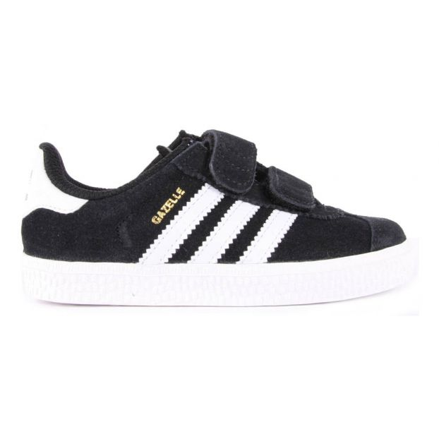 6d202208696d Suede Velcro Gazelle Trainers Black Adidas Shoes Children