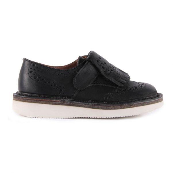Derbies Suède Franges Amovibles à Scratch Noir Pèpè Chaussure f7488f557dcd