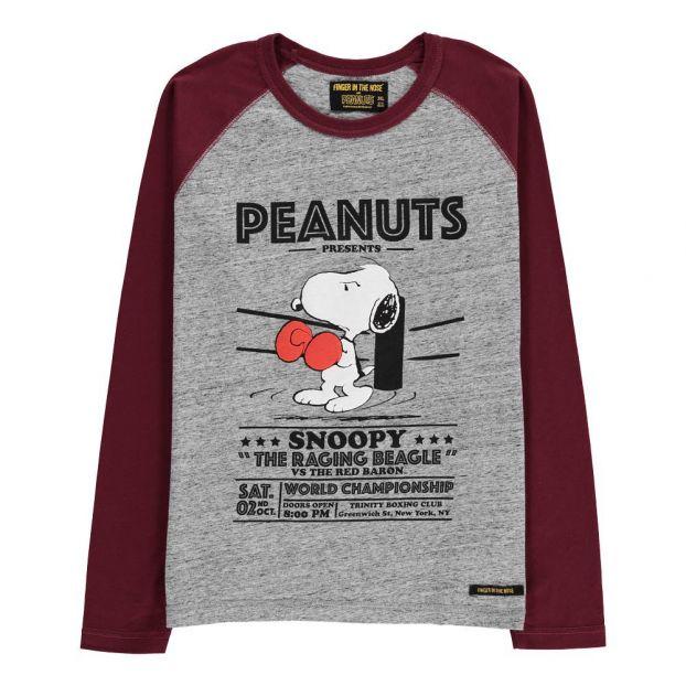 a2eeb385a Camiseta Snoopy Boxeador Neal Gris Jaspeado Finger in the nose
