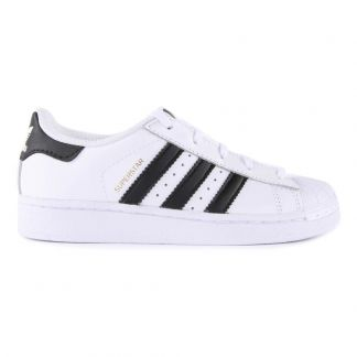 check out 4686e ec343 Adidas Leather Elastic Lace Superstar Black Trainers-product