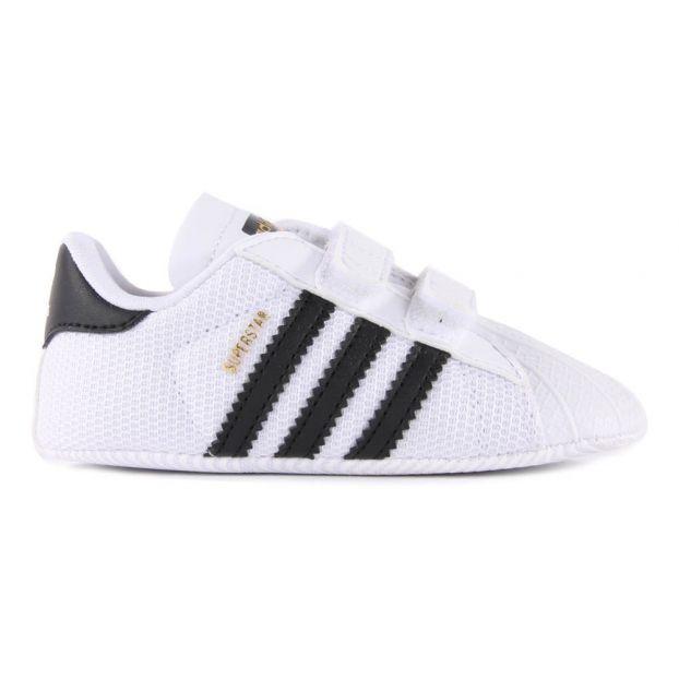 0938469a726 Patucos Velcro Sueprstar Crib Negro Adidas Calzado Bebé