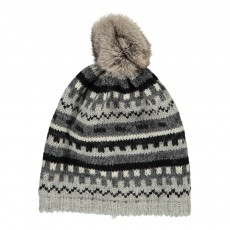 product-Petit Nord Removable Fur Pompom Knit Hat