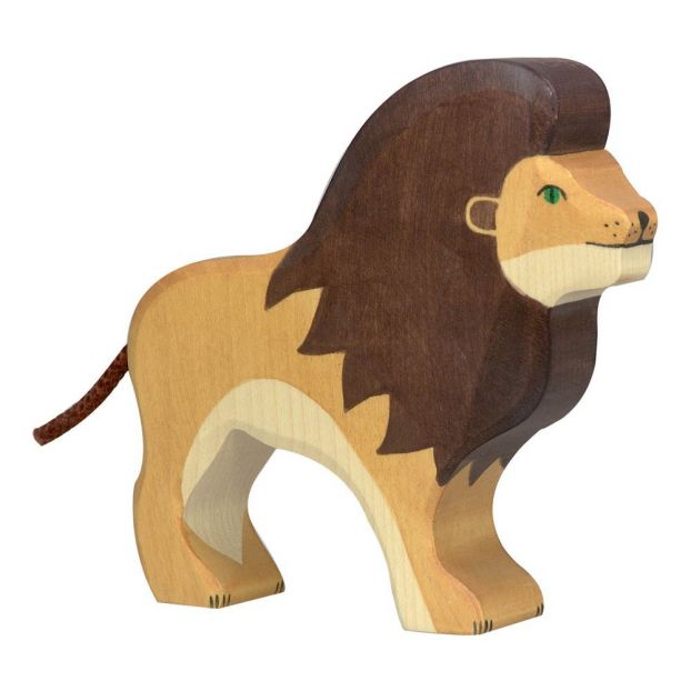 kid wooden toy animal toy wood lion toy natural wood toy childrens animal toy wooden toy for boy Wood Lion Toy