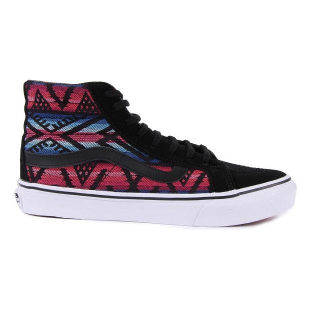 Aztec SK8 Hi Slim Trainers Black Vans Shoes Teen  eab8e1e17