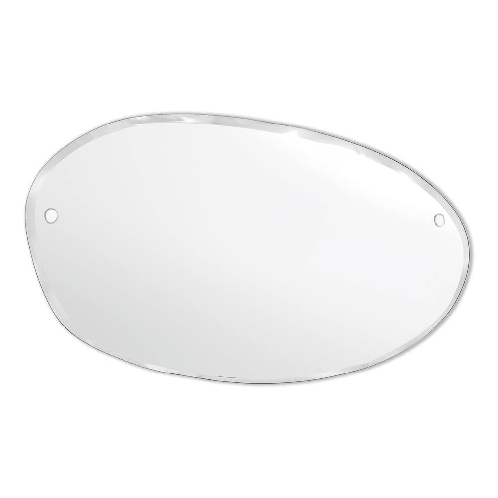 Flacher Spiegel Oval-Waagerecht 100 × 60 cm