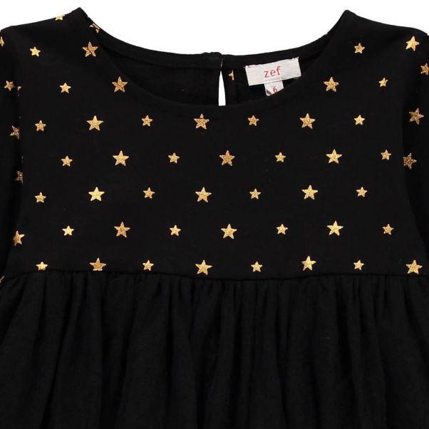 b68c36a433e1 Robe Etoiles Tulle Grazia Noir Zef Mode Enfant