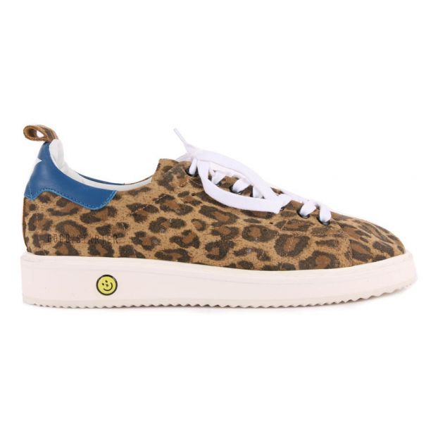 5194e0c6a8897 Starter Leopard Print Suede Trainers Beige Golden Goose Deluxe