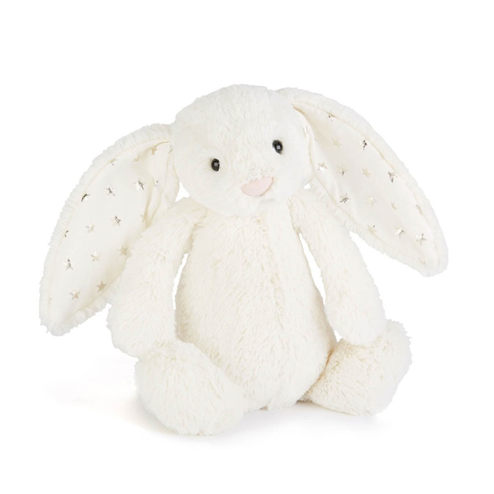 e75cee3b2c3 Cream and Gold Star Bashful Bunny Soft Toy Jellycat Toys and