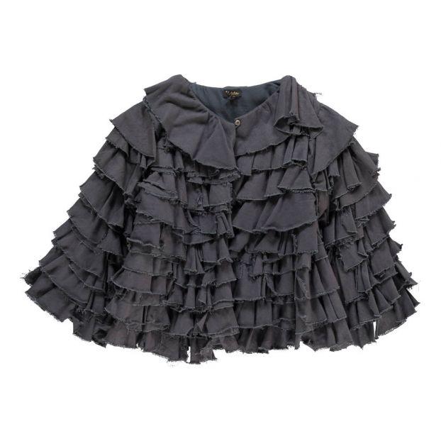 2e727d06aef Rae Frilly Jacket Navy blue Velveteen Fashion Children