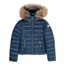 product-Moncler Solaire Down Jacket with Fur Hood