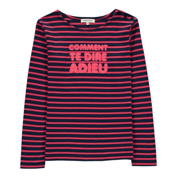7b6fb0afa46 T-shirt Rayé Bastille Bleu marine La Petite Française Mode