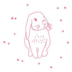 product-MIMI'lou Fluorescent Rabbit Sticker