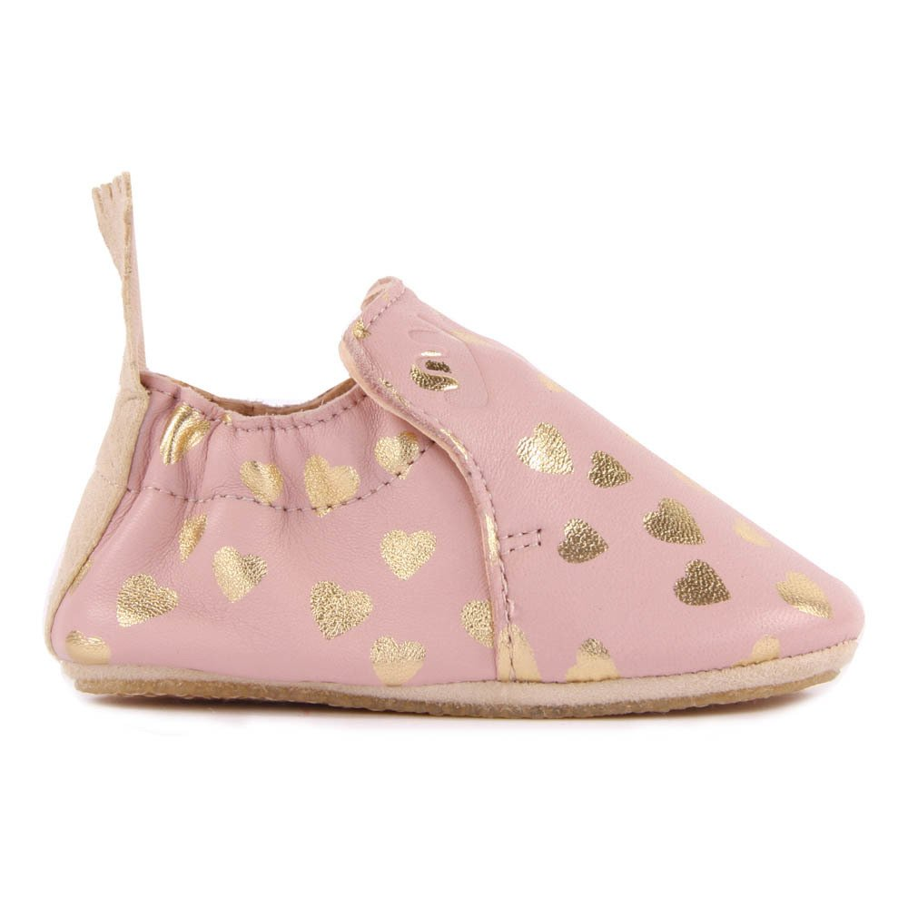 8b9b70128a11e1 Blublu Lovely Leather Slippers Pink Easy Peasy Shoes Baby