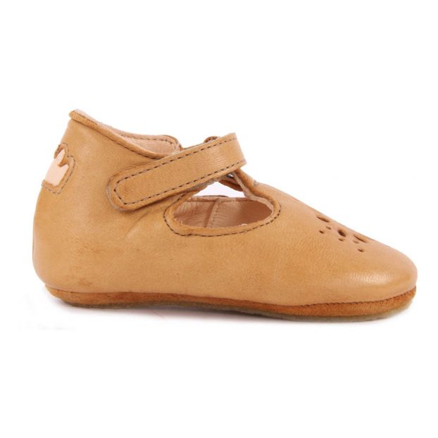 1fad1973e7150 Lillyp Velcro Leather Mary Janes Camel Easy Peasy Shoes Baby