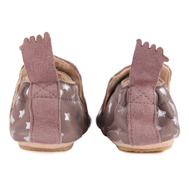 0680352c4c3578 Blublu Night Leather Slippers Brown Easy Peasy Shoes Baby