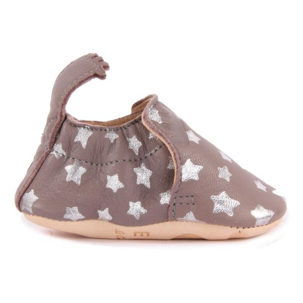 8ae03b3551cf5d Night Blumoo Leather Slippers Brown Easy Peasy Shoes Baby
