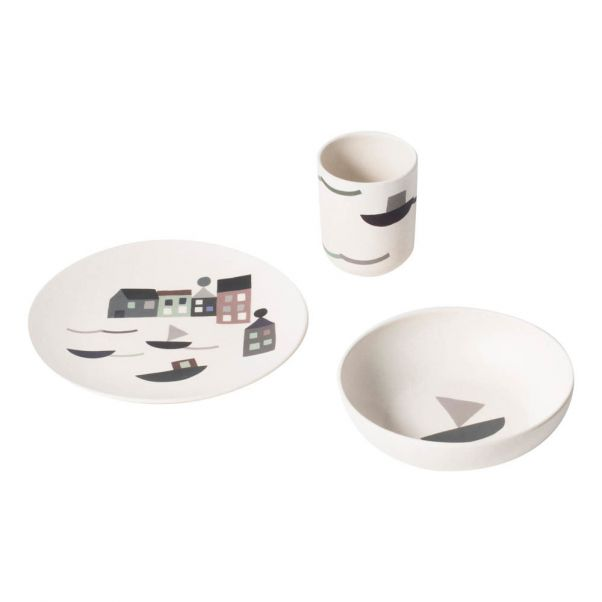 Geschirr Set Aus Bambus Ferm Living Kids Design Baby Kind