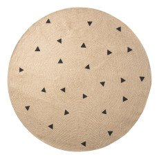 product-Ferm Living Kids Black Triangle Pattern Round Rug