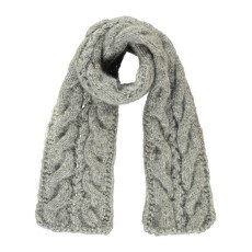 product-Mademoiselle à SOHO Spic Lurex Plaited Scarf Grey