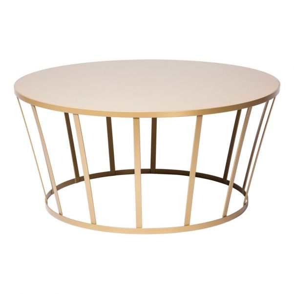 Hollo Coffee Table Gold Petite Friture Design Adult
