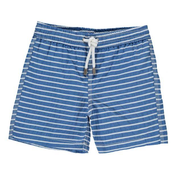 152306d711a Short de Bain Rayé Achille Bleu Hartford Mode Adolescent