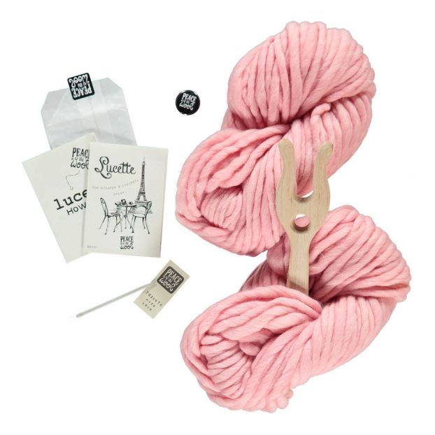 6ae84909b20 Pale Pink Lucette DIY Knitting Kit Peace and Wool Toys and
