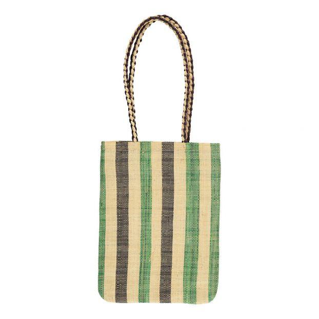 7ab5f5b16a Brownie Striped Raffia Bag Green Soeur Fashion Teen , Children