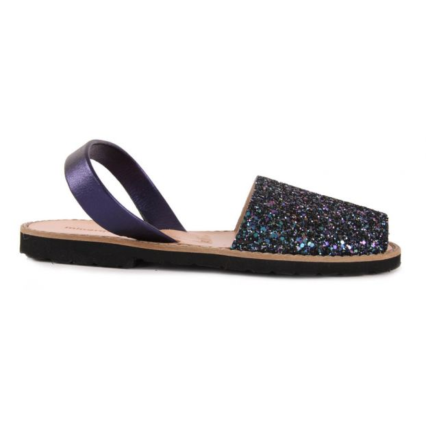 5c1475034d32 Avarca Glitter Sandals Navy blue Minorquines Shoes Teen