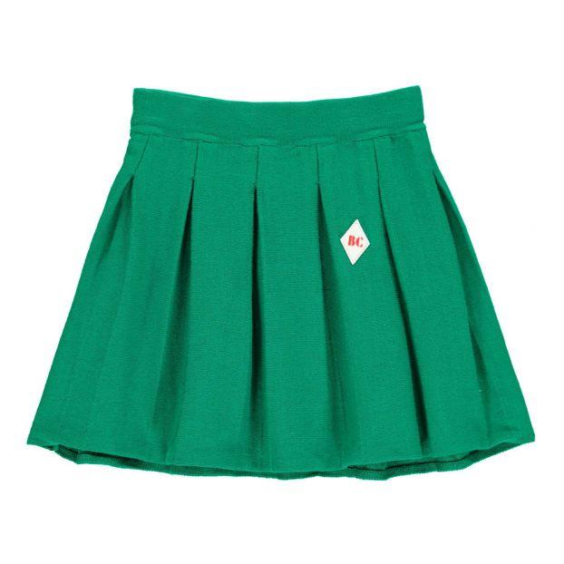 8f80da1de Falda Plisada Punto Verde