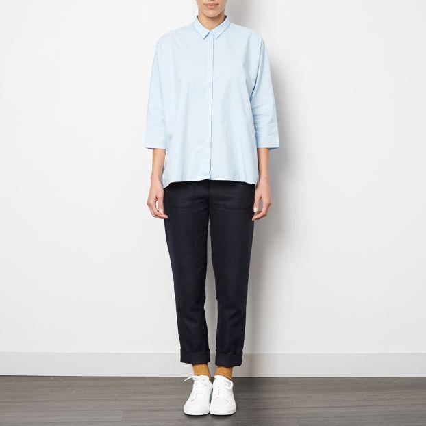 2376b64d944acf Jennifer Oversized Crop Top Light blue ANECDOTE Fashion Adult