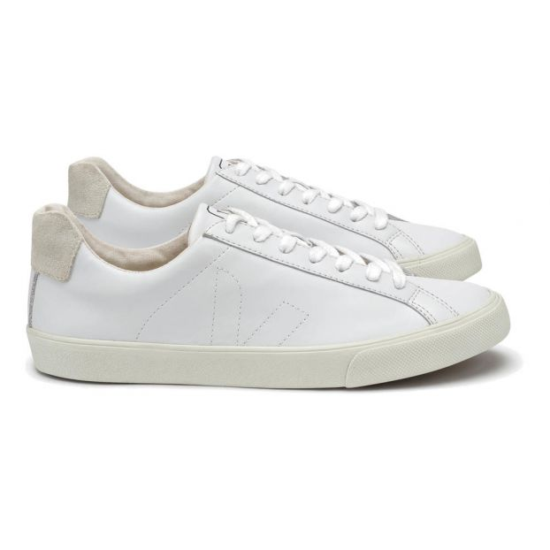 6832b8c30 Low Esplar Leather Lace-Up Trainers White Veja Shoes Adult